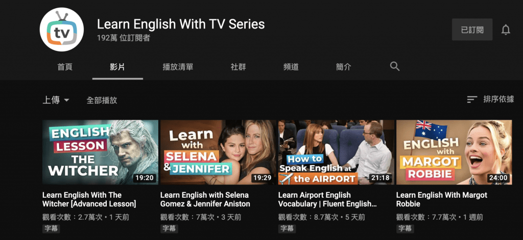 english with TV series